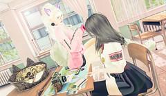 不良少女被风纪委员约谈 (imp朣) Tags: school secondlife uniform insomnia angel altair glasses wasabi inori