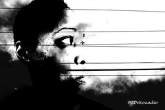 Dark Clouds (Stephenie DeKouadio) Tags: art artistic artwork abstract abstractart blackandwhite monochrome portrait selfportrait selfie symbolic