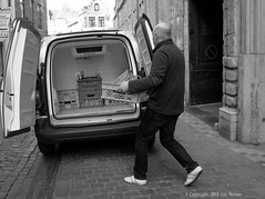 Delivered (Spotmatix) Tags: 1232mm belgium brussels camera car effects lens monochrome omdem10ii olympus places street streetphotography transports zoomstd