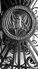 Bacardi bat gate detail B&W (Light Orchard) Tags: bacardi caribbean sanjuan puertorico travel tour holiday vacation trip cruise excursion ©2019lightorchard bruceschneider