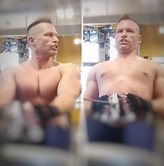 seated rows (ddman_70) Tags: shirtless pecs abs muscle gym workout