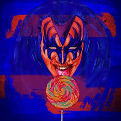 Gene Simmons : : KISS (EmiRenzi) Tags: gene simmons kiss emi renzi draw dibujo art arte illustration ilustración ilustraçao music rock glam artist bass