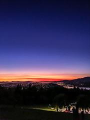 (Dennis Yip) Tags: sunset sunrise sun beautiful cloud skyline golden hour burnaby vancouver mountain evening lights cityscape pretty british columbia blue purple red orange dark mood