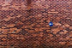 DSC_5501 urban minimalism (Filip Patock) Tags: urban city minimalism wall bricks red road sign manchester