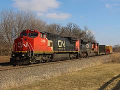 CN A49191-04 (Tunnel Blanket) Tags: cn canadiannational c408w a491 byron wisconsin waukeshasub