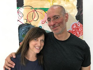 Gallerist Mindy Solomon with husband Michael during the progressive brunch at Mindy Solomon Gallery in Little River