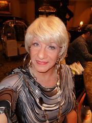 Showing Off My Hoops (Laurette Victoria) Tags: necklace earrings dress blonde hoops woman laurette hotel bar milwaukee pfisterhotel