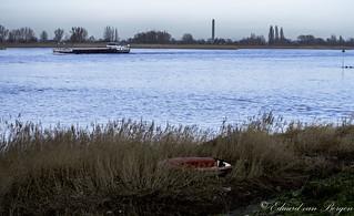 Washed up boat. (Lek river)