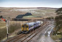 158902 at Garsdale on 18 Jan 19 (John_Hales) Tags: ribblehead rail railway train trains settle carlisle class158 nr northernrail bleamoor networkrail cumbria