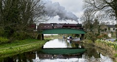 6201 (chaotic river) Tags: 6201 lizzie preincess elizabeth steam locomotive special train bridge lancaster canal