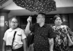 Happy Family (Beegee49) Tags: street people family filipina blackandwhite monochrome bw luminar sony a6000 bacolod city philippines asia happyplanet asiafavorites