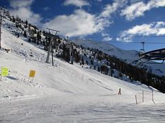 Chair Lift (gwackamo) Tags: chair lift bormio italy skiing red slope blue alps mountain