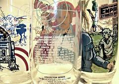 Lando Calrissian glass caption (enigma force) Tags: empire strike back drinking glasses burger king 1980