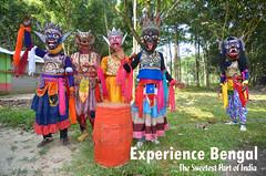 Gomira Mask Dancers of Bengal (pallab seth) Tags: gomiramask artisans dancers bengal india mukhakhel mahisbathan khuniadanga kushmandi craftsmen crafts maskmakers woodenmask ancient ritual tradition maskdance folkart artists animism rituals experiencebengal tourism tour poster travel