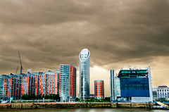 """100724 Canary Wharf 3 (hoffman) Tags: view canarywharf docklands riverthames falsecolour cityscape davidhoffman davidhoffmanphotolibrary socialissues reportage stockphotos""""stock photostock photography"""" stockphotographs""""documentarywwwhoffmanphotoscom copyright"""