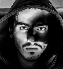 Eagle eye (Glenn Cox) Tags: photography selfportrait portrait bnw face detail aperture vision eyes bw