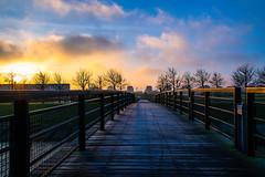 Morning light (Maria Eklind) Tags: ribban bro sunlight malmö bridge morninglight himmel silhouette sweden soluppgång sky solljus ribersborg sunrise skånelän sverige se