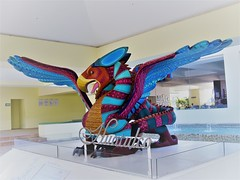 Dragon (knightbefore_99) Tags: mexico mexican tropical oaxaca tangolunda art awesome best pacific dreams warm dragon sculpture fantastic huatulco colour scary entrance lobby