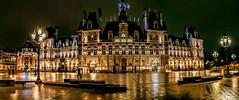 Hotel de ville de Paris panorama (angelobrathot) Tags: city town hall night building