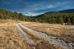 Journeys (RkyMtnGrl) Tags: landscape nature scenery vista mountains pines valley road journey ice snow winter january 2019 allenspark colorado