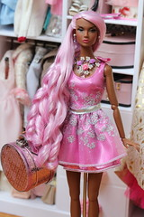 Pink Princess (Isabelle from Paris) Tags: just style poppy parker ooak reroot saran hair isabelle paris jewels
