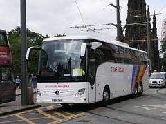 Humphries Coaches of Thatcham, Coach Miles, Mercedes Benz Tourismo M3 BD18TKY, in Trafalgar Tours livery, at Princes Street, Edinburgh, on 23 July 2018. (Robin Dickson 1) Tags: mercedesbenztourismom2 busesedinburgh humphriescoachesofthatcham coachmiles bd18tky trafalgartours