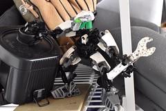 Repairs (mrjustin412) Tags: bionicle moc matoran black machine wrench dust rust industrial