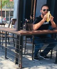 IMG_E8361 (danimaniacs) Tags: man guy hot sexy westhollywood eat banana beard scruff