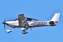 Cirrus SR-22T Carbon GTS G-IZZT at Kemble / Cotswold . (Bob Symes) Tags: 1714 kemble sr22t carbon carbongts cirrus cirrussr22t