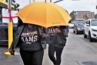 Rainy Day In LA - Ram Fans