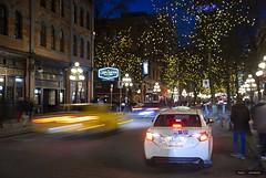 The Drop Off (Clayton Perry Photoworks) Tags: vancouver bc canada winter explorebc explorecanada night lights gastown cab taxi