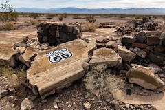 """Many a Trip Continues . . . . (garshna) Tags: route66 motherroad abandoned ruins sign rubble decay siberiacalifornia"