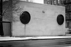 Circle-Vented Structure BW (Edgar.Omar) Tags: pentax pentaxf5017 k50 city urban nyc vents street brick bronx