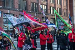 The flag standard bearers. (kuntheaprum) Tags: chinatownboston chinesenewyearcelebration yearofthepig sony a7riii tamron 2470mm f28 festival parade dragon firework