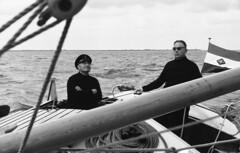 Captain at the helm (Arne Kuilman) Tags: lostandfound zimmermans photos photonotmine scan v600 epson holiday found gevonden captain sailing netherlands