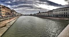 Panorama over Arno (aiva.) Tags: italy pisa italia arno river bridge panorama toscana tuscany