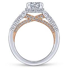 Reverse Tapered With 14k Rose Gold Shining Beneath Diamond String Set in 14k White Gold Engagement Ring Setting (diamondanddesign) Tags: reversetaperedwith14krosegoldshiningbeneathdiamondstringsetin14kwhitegoldengagementringsetting er13829r4t44jj bridal rd engagement rings gbbr 65 067 ct gabriel ny diamond 14k white gold rose lifestyle