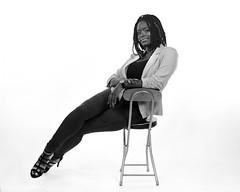 Blessing seated (Howard Sandler (film photos)) Tags: graflex crowngraphic schneiderkreuznach xenar largeformat 4x5 fp4 xtol model portrait film blackandwhite