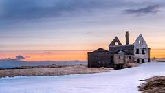 Dagverdara (Des Daly) Tags: iceland abandoned farmhouse snow sunset ruin snæfellsnes landscape