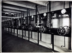 Caulfield Substation. Showing - Reyrolle 20,000 Volt A.C. Control Panels. (Public Record Office Victoria) Tags: railways train electrification blackandwhite archives victoria caulfield substation reyrolle control panel volt 1919 machinery