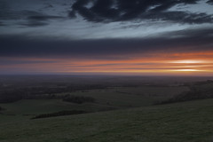 Lovers In Mourning (Andi Hardman) Tags: loversinmourning lovers mourning morning red blue sky landscape countryside sun rise combe gibbet execution affair murder adultery gallows inkpen logbarrow walbury hill berkshire hampshire border england