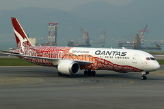 "Qantas Airways Boeing 787-9 ""Yam Dreaming"" Livery VH-ZND (Manuel Negrerie) Tags: qantas airways boeing 7879 yamdreaming livery vhznd australia design khg technology dreamliner 787 rollsroyce trent canon spotting aviation jetliner airliner graphic painting aboriginal qfa qf airport taxiway tarmac travel transportation art"