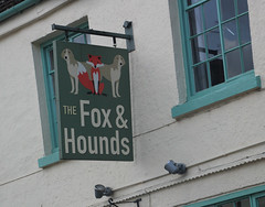 English Pub Sign - The Fox & Hounds, Stoney Stratford (big_jeff_leo) Tags: pub pubsign publichouse streetart street bar bucks england art artistic animal