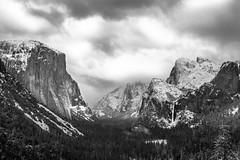 Yosemite Valley (CA) (jcgallegof) Tags: yosemite california winter snow landscape nature mountain fog sky cloud forest el capitan valley blackwhite