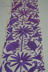 Otomi table runner in purple  | Otomi Mexico (Otomi Mexico) Tags: lavanda table runner otomi mexico mexican embroidery embroidered fabric crafts purple animal pattern unique textiles