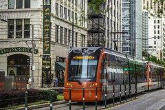Train Passes St. Germain - Main Street (Mabry Campbell) Tags: 609mainattexas harriscounty hines houston pickardchilton texas usa architecture building downtown exterior image photo photograph skyscraper tower f35 mabrycampbell april 2019 april22019 20190402houstoncampbellh6a6732 100mm ¹⁄₁₀₀sec 250 ef100mmf28lmacroisusm