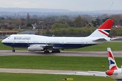 "G-CIVB | Boeing 747-436 | British Airways (special ""Negus"" retro livery) (cv880m) Tags: london egll heathrow lhr gb uk aviation airliner airline aircraft airplane jetliner airport gcivb boeing 747 744 747400 747436 baw british britishairways negus retro centenary 100years 19192019 jumbo"