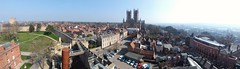 Panorama of Lincoln (edward.olley1) Tags: cathedral lincolncathedral lincoln lincolnpanorama castle lincolncastle wideangle samsungphone samsunga9 phonephotography amateurphotographer 2019 march march2019 spring saturday city