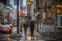 A Rainy Day on Yonge Street (A Great Capture) Tags: umbrella umbrellas reflection mirror glass reflections outdoor outdoors outside cityscape urbanscape eos digital dslr lens canon rebel t5i colours colors colourful colorful city downtown lights urban agreatcapture agc wwwagreatcapturecom adjm ash2276 ashleylduffus ald mobilejay jamesmitchell toronto on ontario canada canadian photographer northamerica torontoexplore spring springtime printemps 2018 overcast rain rainyday rainy cloudy streetphotography streetscape photography streetphoto street calle