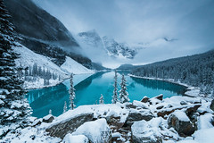 Early start at Moraine Lake D85_5031.jpg (Mobile Lynn) Tags: water rock forest moody lake snow landscape mountain landscapephotography outdoorphotography improvementdistrictno09 alberta canada ca coth coth5 ngc npc